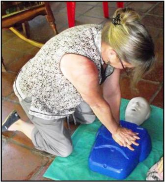 Nora teaching                                                   CPR