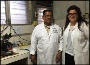 Lab                                                           technicians                                                           Mario and                                                           Laura